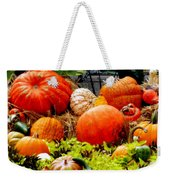 Pumpkin Harvest Weekender Tote Bag by Karen Wiles