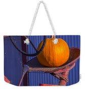 Pumpkin On Tractor Seat Weekender Tote Bag