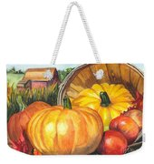 Pumpkin Pickin Weekender Tote Bag by Carol Wisniewski
