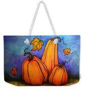 Pumpkin Trio Weekender Tote Bag