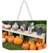 Pumpkins And Birdhouses Weekender Tote Bag