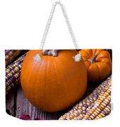 Pumpkins And Corn Weekender Tote Bag