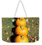 Pumpkins In A Row Weekender Tote Bag