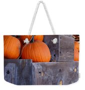 Pumpkins On The Wagon Weekender Tote Bag by Kerri Mortenson