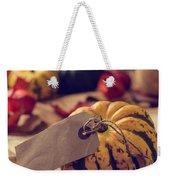 Pumpkins With Label Weekender Tote Bag