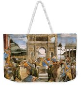 Punishment Of Korah And Dathan And Abiram Weekender Tote Bag