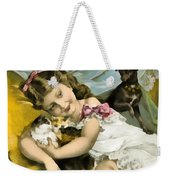 Puppies Kittens And Baby Girl Weekender Tote Bag