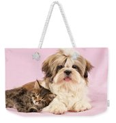 Puppy And Kitten Weekender Tote Bag by Greg Cuddiford