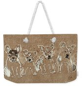 Puppy Brigade Weekender Tote Bag