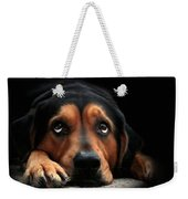Puppy Dog Eyes Weekender Tote Bag by Christina Rollo