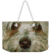 Puppy Eyes Weekender Tote Bag