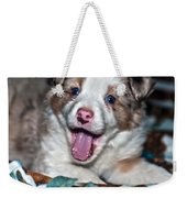 Puppy Laughter Weekender Tote Bag