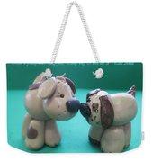 Puppy Love Weekender Tote Bag by Barbara Snyder