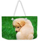 Puppy Love Weekender Tote Bag by Christina Rollo