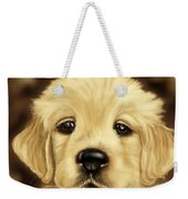 Puppy Weekender Tote Bag by Veronica Minozzi