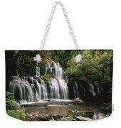 Purakaunui Falls And Tropical Weekender Tote Bag