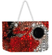 Pure Passion 2 - Stone Rock'd Red And Black Art Painting Weekender Tote Bag by Sharon Cummings