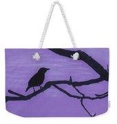 Purple - Bird - Silhouette Weekender Tote Bag