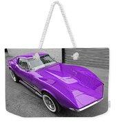 Purple 1968 Corvette C3 From Above Weekender Tote Bag
