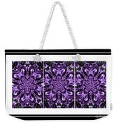 Purple Abstract Flower Garden - Kaleidoscope - Triptych Weekender Tote Bag