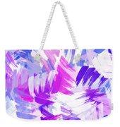 Purple Abstract Paint Pattern Weekender Tote Bag