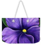 Purple African Violet Weekender Tote Bag