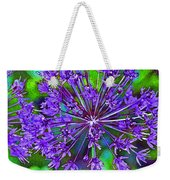 Purple Allium Flower Weekender Tote Bag
