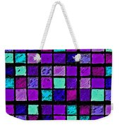 Purple And Aqua Sudoku Weekender Tote Bag