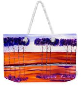 Purple And Blue Trees Abstract Weekender Tote Bag