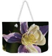 Purple And Cream Columbine Flower Weekender Tote Bag