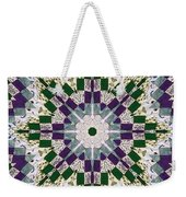 Purple And Green Patchwork Art Weekender Tote Bag