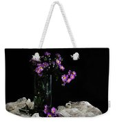 Purple And Lace Weekender Tote Bag by Diana Angstadt