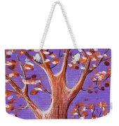 Purple And Orange Weekender Tote Bag by Anastasiya Malakhova