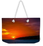 Purple And Orange Sunset Weekender Tote Bag