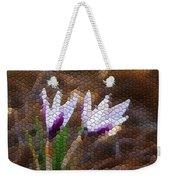 Purple And White Crocus Weekender Tote Bag