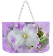 Purple And White Fancy African Violets Weekender Tote Bag
