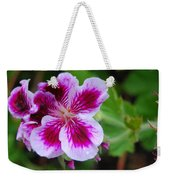 Purple And White Flowers Weekender Tote Bag