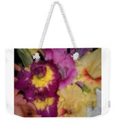 Purple And White Flowers Weekender Tote Bag