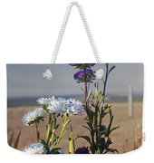 Purple And White Flowers In The Sun Weekender Tote Bag