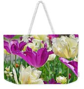 Purple And White Tulips Weekender Tote Bag