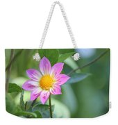 Purple And Yellow Dahlia Weekender Tote Bag