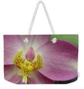 Purple And Yellow Orchid Weekender Tote Bag