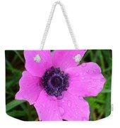 Purple Anemone - Anemone Coronaria Flower Weekender Tote Bag