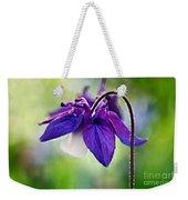 Purple Aquilegia Weekender Tote Bag