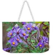 Purple Asters Weekender Tote Bag