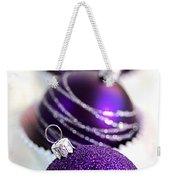 Purple Baubles Weekender Tote Bag