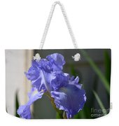 Purple Beauty Iris Weekender Tote Bag