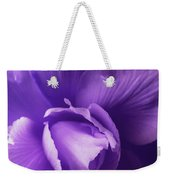 Purple Begonia Flower Weekender Tote Bag