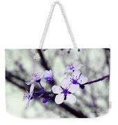 Purple Blossoms Weekender Tote Bag