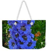 Purple Blue Weekender Tote Bag